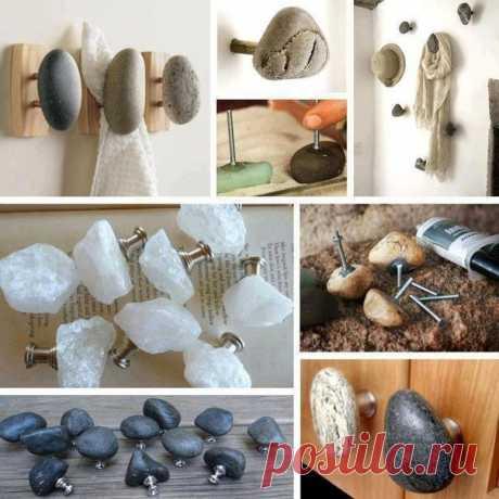 Декорирование простых вешалок натуральными природными камнями