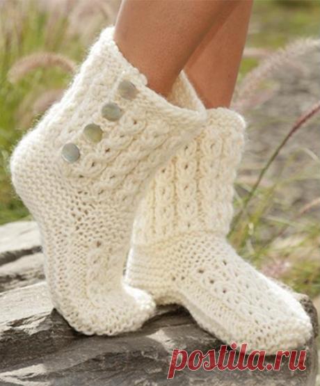 Вязаные носки - подборка идей на фото