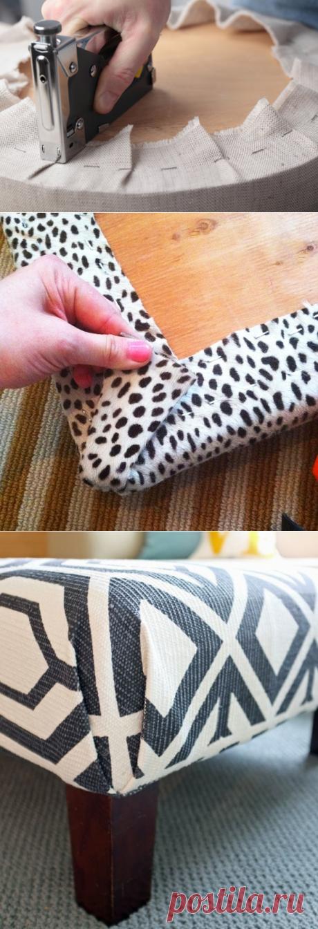 Как самостоятельно поменять обивку мебели — Мой дом