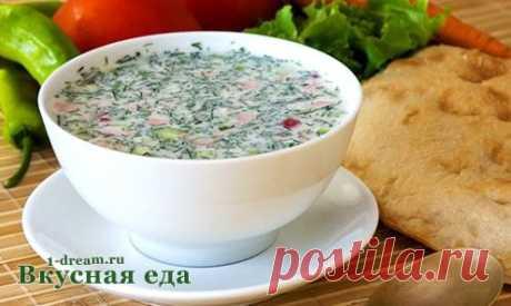 Рецепт окрошки на кефире - Вкусная еда