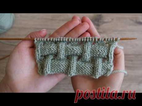 Объёмный узор спицами под Клоке | Knitting pattern as Kloke sticthes - YouTube