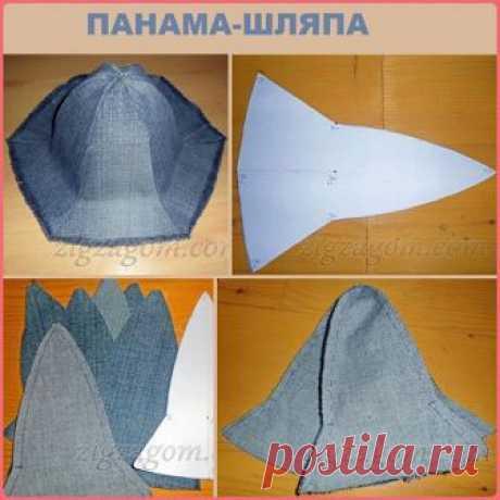 """#ДжинсовыеПеределки_zolvik #аксессуары_zolvik ПАНАМА """"КОЛОКОЛЬЧИК"""" из старых джинсов Для пошива нам понадобиться: — штанины от старых джинсов, — нитки, иглы и швейная машинка.  Измеряем объем головы.  Измеряем высоту панамки. Для этого измеряем расстояние от уха до уха через макушку и делим пополам.  Начинаем рисовать выкройку. Точнее её шестую часть.  Чертим ось симметрии. Ставим точку С верха панамы. Отмеряем по оси высоту панамы – отрезок СА1. Через точку А1 рисуем перв..."""