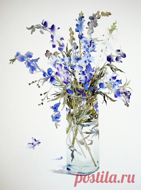 Susan Headley van Campen ~Акварельные цветы~...