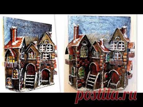 DIY / Christmas  Houses from Cardboard/ Christmas Decorations