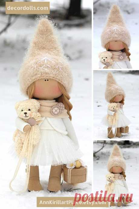 Interior Textile Doll Fabric Tilda Doll Rag Art Doll   Etsy