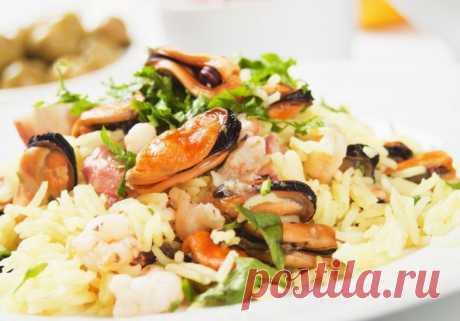Паэлья (плов с мидиями) — Sloosh – кулинарные рецепты