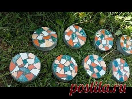 мозаичные камни для сада