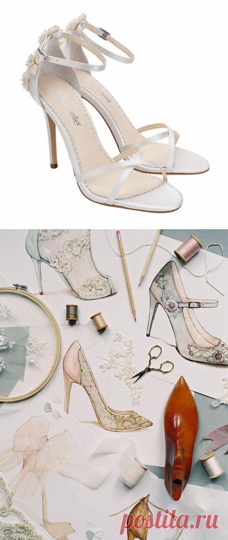 Gardenia 3D Floral Pearls and Ivory Beads Wedding Heel | Bella Belle