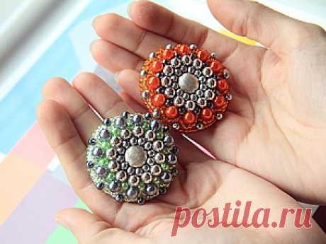 "Brooch \""Solar\"" in technology of beadwork. \/ A fair of Masters - handwork, handmade"