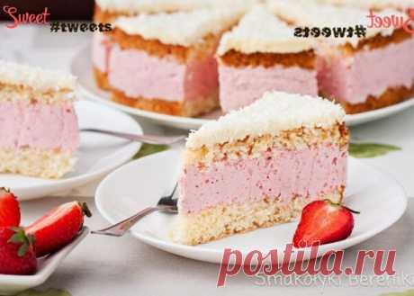 Клубнично-кокосовый торт | Sweet Twittes