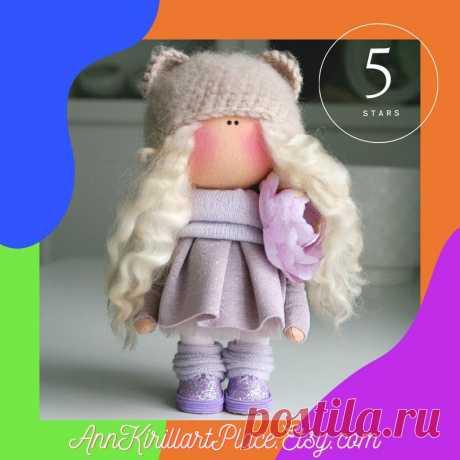 Winter Decor Doll Handmade Nursery Interior Doll Original | Etsy