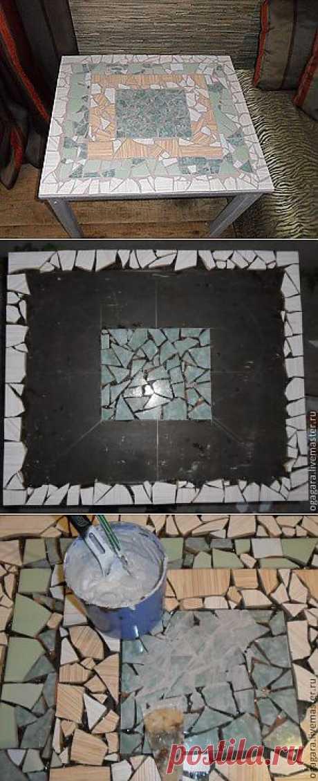 Мозаичный столик своими руками   МОЯ КВАРТИРА