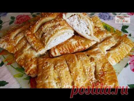 Слойки с курицей и сыром (+ВИДЕО) - Затейка.com.ua - рецепты вкусных десертов, уроки вязания схемы, народное прикладное творчество