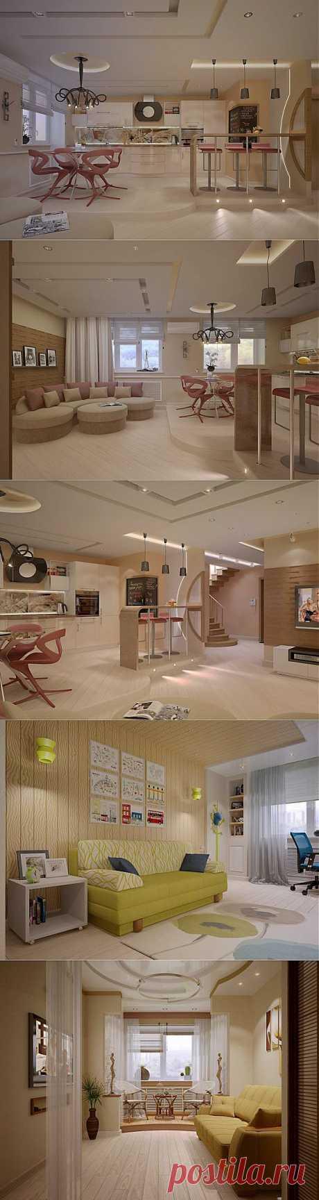 Дизайн двухуровневой квартиры 180 кв.м. | Наш уютный дом