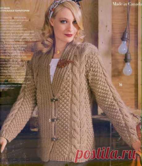 Вязание спицами для женщин Кардиган