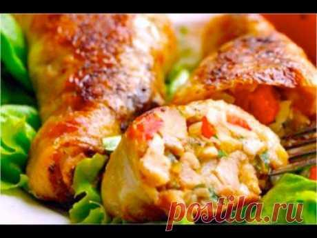 Куриные ножки фаршированные (мясо, шампиьоны, овощи) - Мясные блюда
