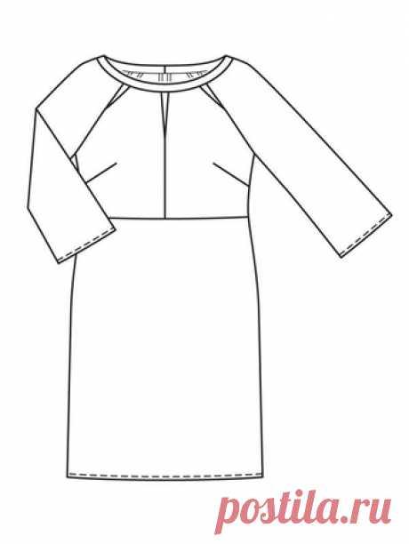 Платье с рукавами реглан - выкройка № 125 из журнала 5/2018 Burda – выкройки платьев на Burdastyle.ru