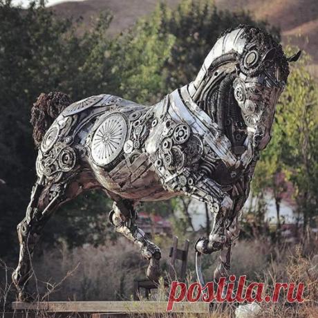 Magnificent metal sculpture by Turkish sculptor, Cem Ozkan :o Великолепная металлическая скульптура от турецкого скульптора, джем özkan  Facebook
