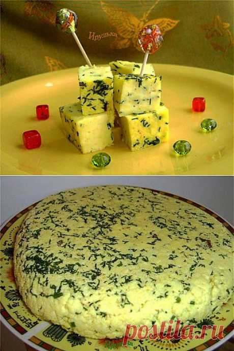 Домашний сыр с карри и укропом