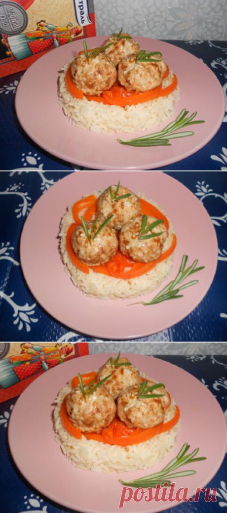Рис Индика Gold с запеченными мясными шариками за 25 минут рецепт с фотографиями