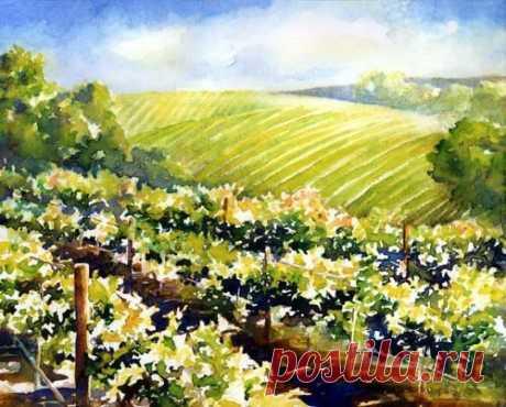 Рисуем пейзаж с виноградником — DIYIdeas