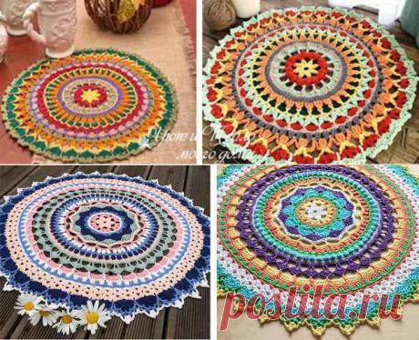 Красивые простые мандалы крючком – схемы ковриков, салфеток | Уют и тепло моего дома