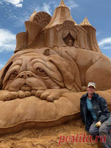 Скульптуры из песка Сюзанны Руселер.  (от О Самом Интересном)