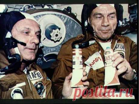Even astronauts of Soviet period drank vodka from tubes...