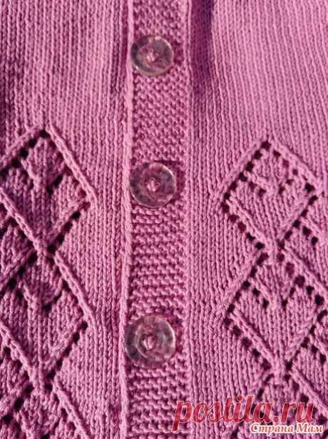 Летняя ажурная кофточка - Вязание - Страна Мам