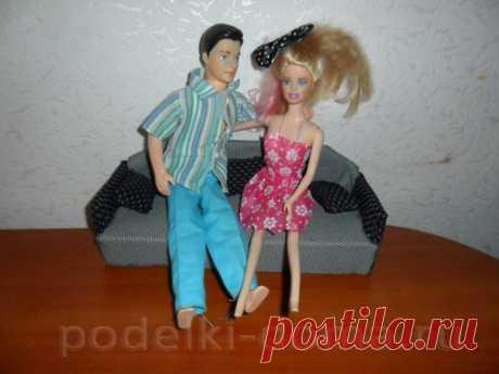 Диван для куклы (вязание крючком) - Коробочка идей и мастер-классов