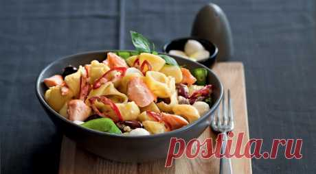 Паста с лососем и маслинами, пошаговый рецепт с фото