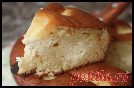 Если остаётся стакан кефира и есть немного творога готовлю нежный творожный пирог за 5 минут
