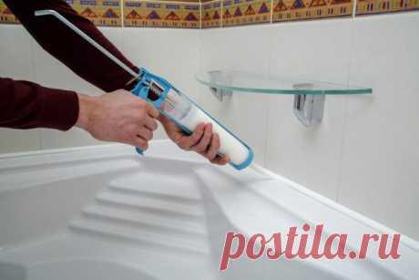 Как удалить герметик самостоятельно в ванной после проведения работ без специального инструмента