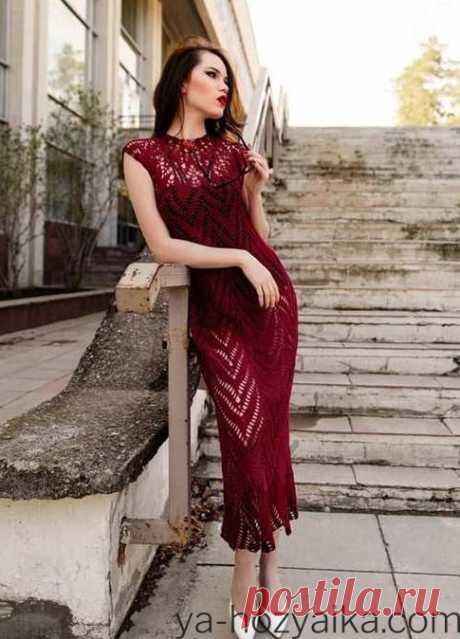 Элегантное летнее платье с круглой кокеткой крюком. Летнее платье крючком просто и нескучно