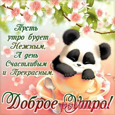 Нежного утра открытка пожелание Чудесный позитив с улыбкой утро на skype