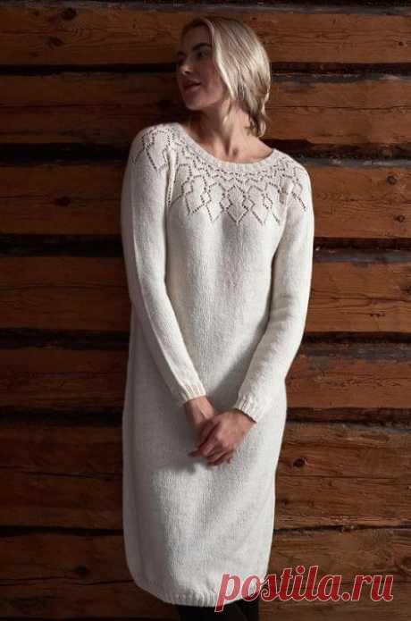 Вязаное платье спицами для женщин: схемы и описание, 8 моделей, фото и видео мк