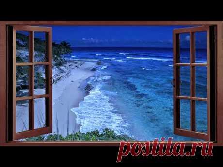 Sleep With Window Open to The Ocean - Deep Sleeping With Relaxing Ocean Sounds