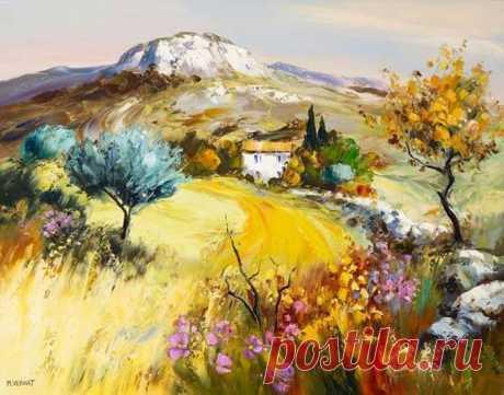 Солнечные пейзажи и натюрморты от Michel Vezinet