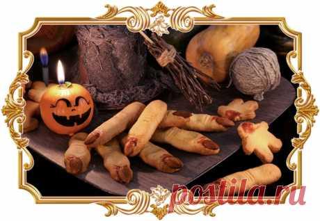 Печенье «Ведьмины пальцы» (рецепт для детей и не только)  Жутковатое и очень реалистичное угощение для праздничной вечеринки Хеллоуина.  Время приготовления: Показать полностью...