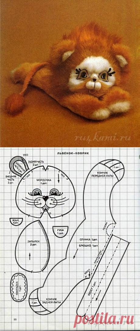 """Львенок коврик – подушка, шьем сами » Сайт """"Ручками"""" - делаем вещи своими руками"""