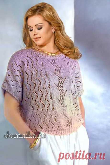 Вязаная кофточка на лето 2019: вязание спицами для полных женщин