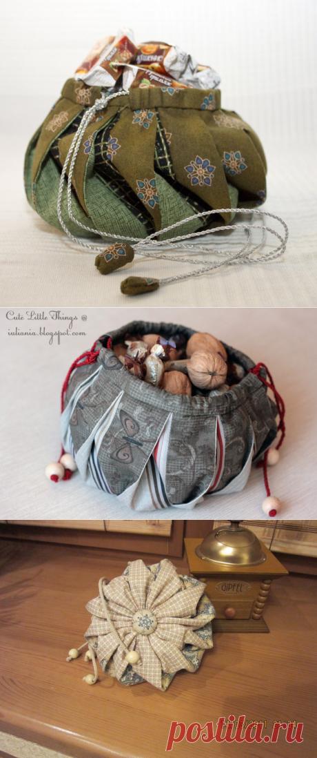 Сумочка омияге из лоскутов