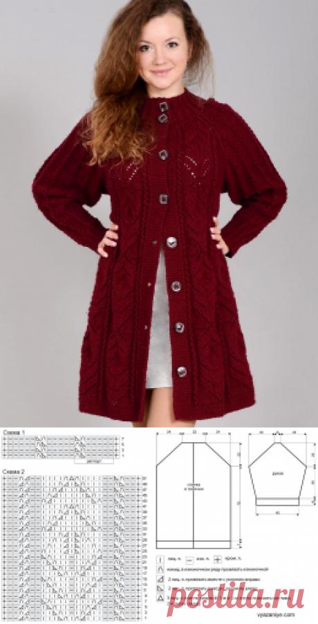 Вязание крючком и спицами - Пальто