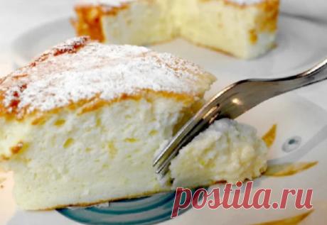 Фантастически вкусный сливочный пирог – он просто тает во рту! Вкус как у сливочного мороженого!