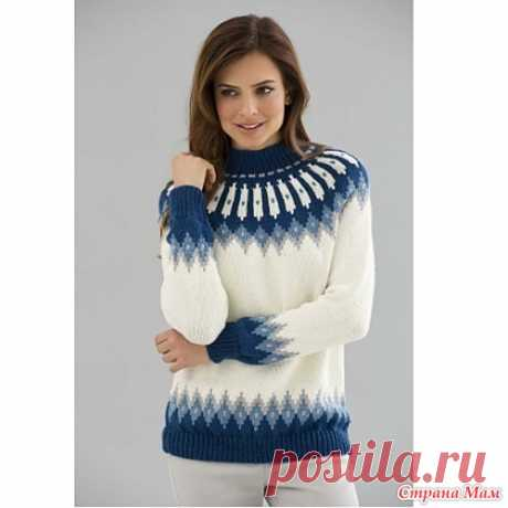 Online on Lopapeysa's knitting is open)) I Welcome.)) I open our online on knitting of the next sweater of Lopapeysa... here such it is supposed to knit... and you can choose to the taste colors and model))