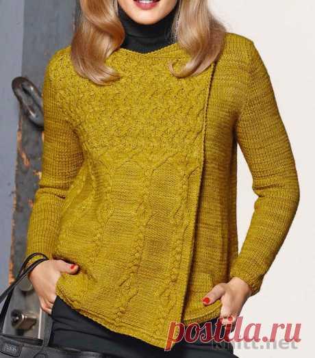 Жакет спицами с рельефным узором | knitt.net | Все о вязании