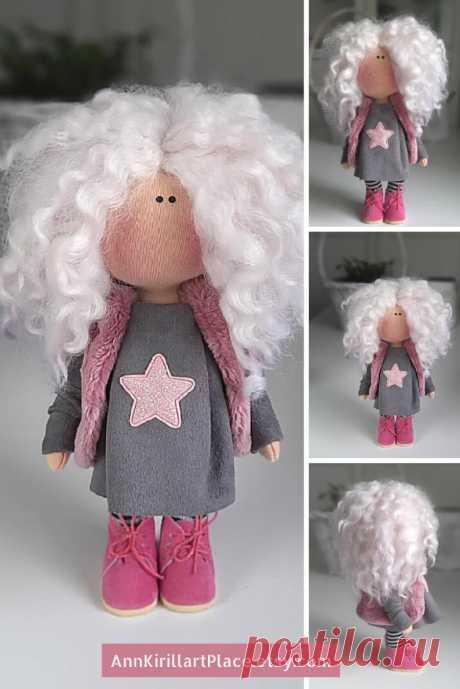 Handmade Cloth Doll Interior Rag Doll Fabric Tilda Doll | Etsy