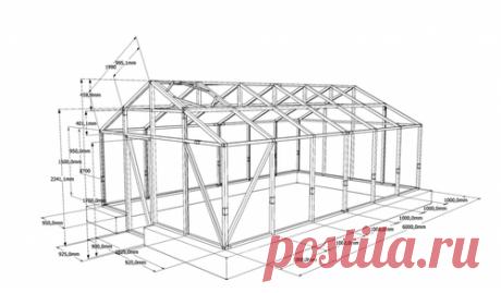 Оптимальные размеры теплицы из поликарбоната: чертежи своими руками