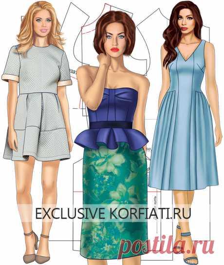 Как сшить платье просто - советы и выкройки от Анастасии Корфиати