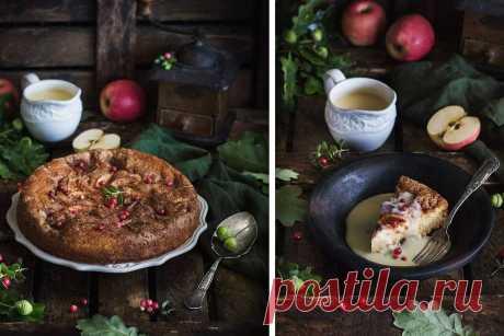 Готовить обязательно! Творожный пирог с яблоками и ванильным соусом от Анжелики Зоркиной . Милая Я